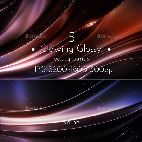 Glowing Glossy Backgrounds