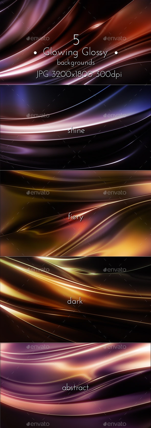 Glowing Glossy Backgrounds - 3D Backgrounds