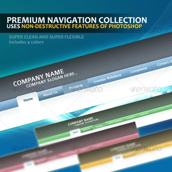 Premium Navigation Template Collection