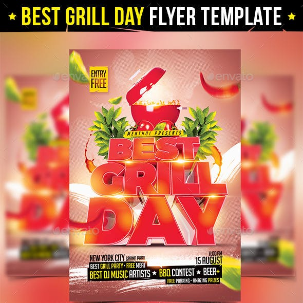 Grill Day Flyer