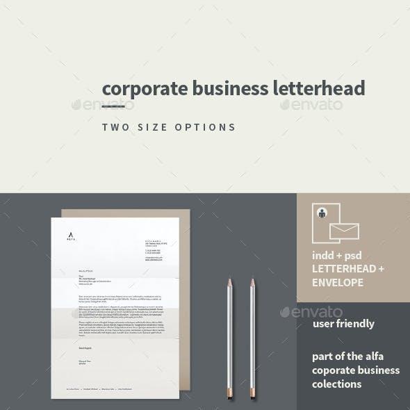 Corporate Business Letterhead + Envelope