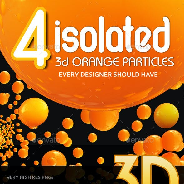 4 Isolated Orange Particles