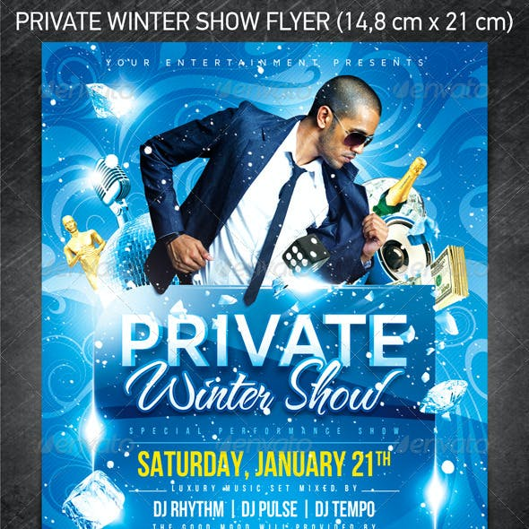 Private Winter Show Flyer