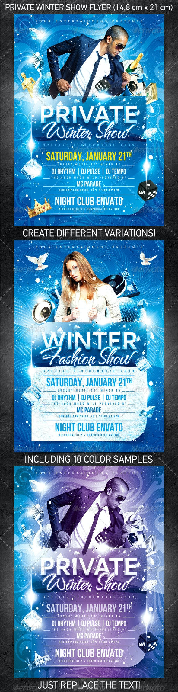 Private Winter Show Flyer - Clubs & Parties Events