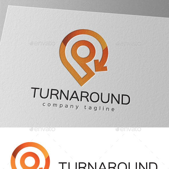 Turnaround Location Direction Logo Design