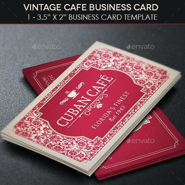 Vintage Cafe Business Card Template