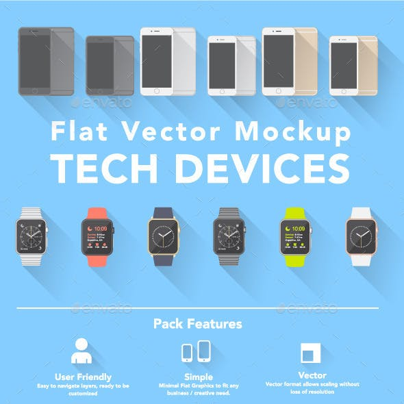 Flat Style Smart Devices