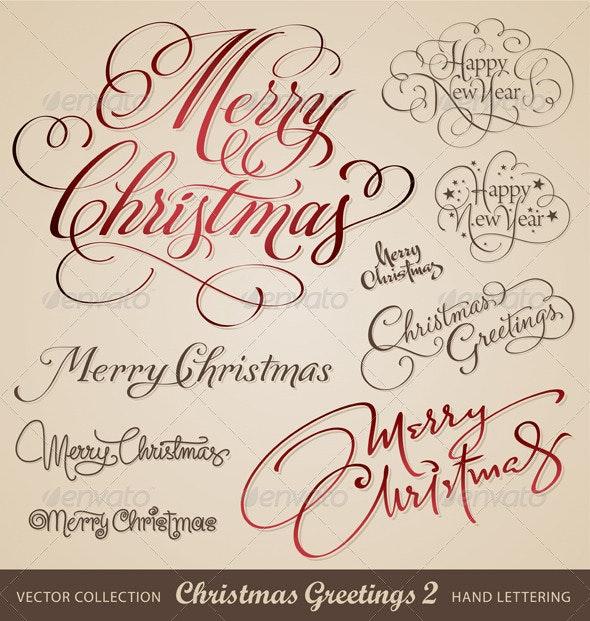 Christmas hand lettering set 2 (vector) - Christmas Seasons/Holidays