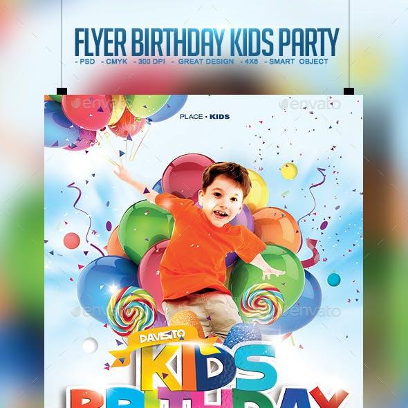 Flyer Birthday Kids Party