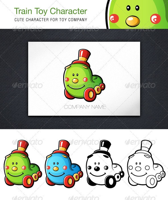 Train Toy Character - Characters Vectors