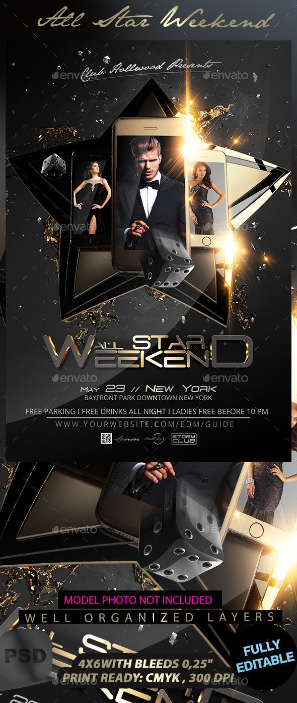 All Star Weekend V2 - Events Flyers