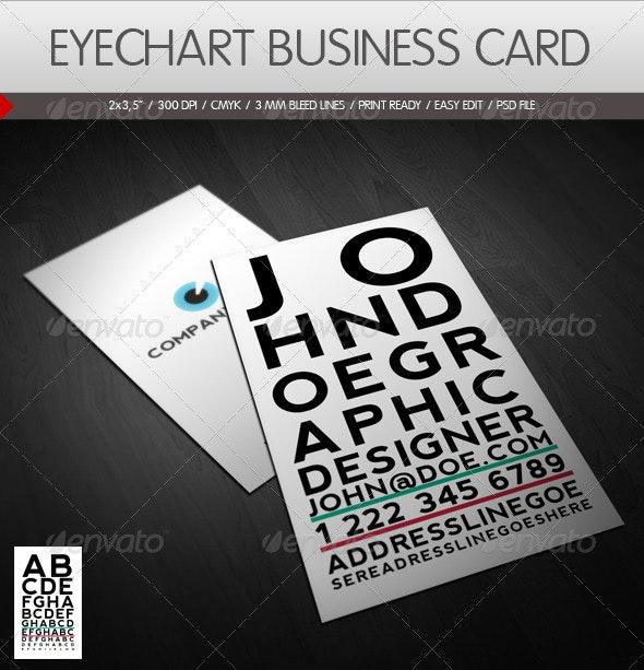 Eyechart Business Card - Creative Business Cards