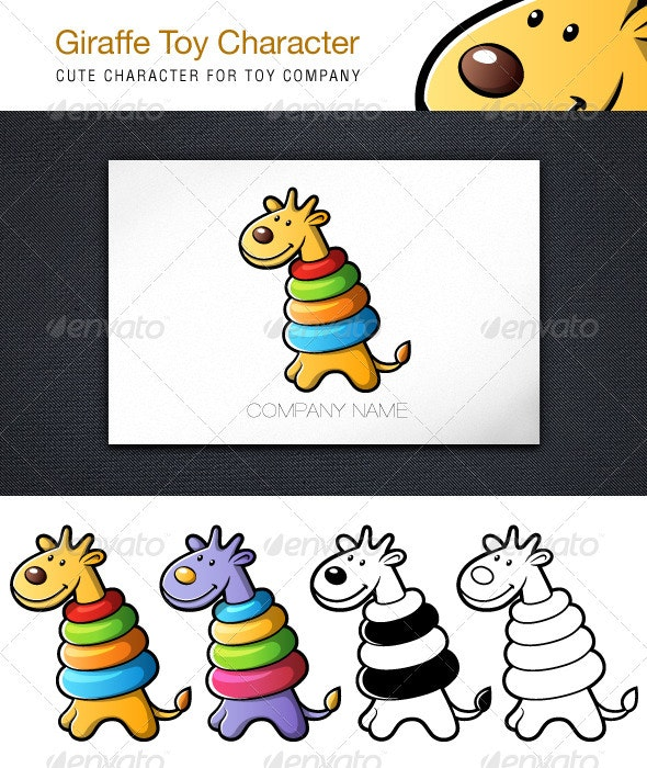 Giraffe Toy Character - Characters Vectors