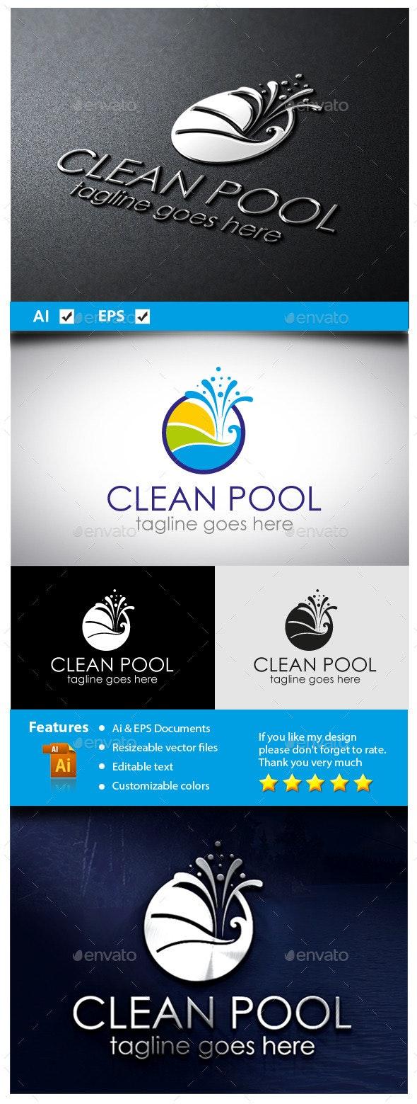 Clean Pool - Symbols Logo Templates