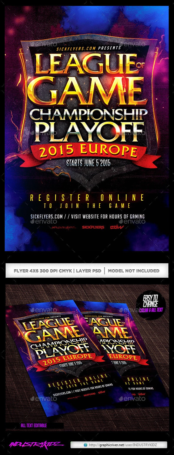 Online Gaming Flyer - Events Flyers
