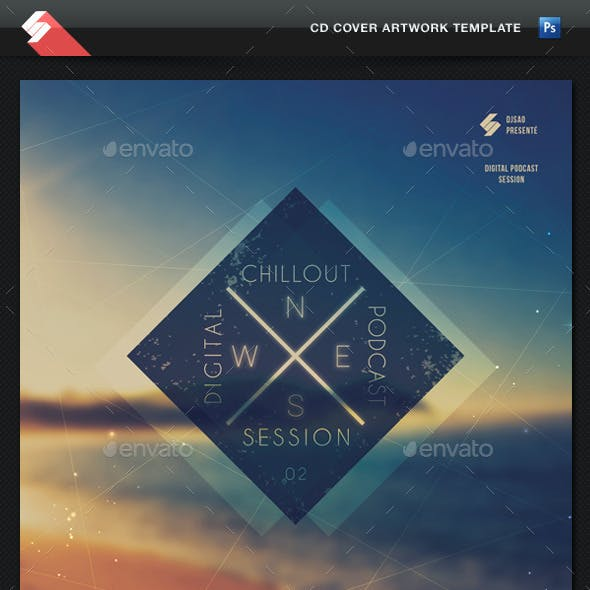 Chillout Session - CD Cover Artwork Template
