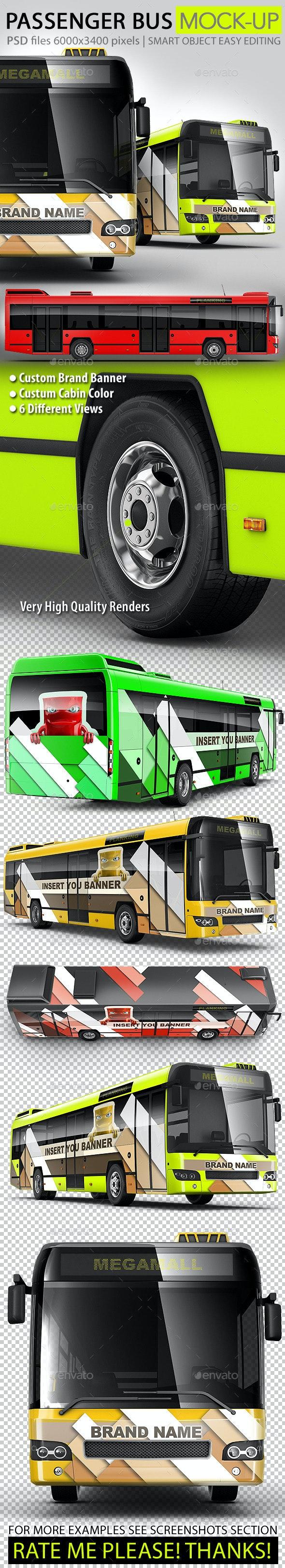 Passenger bus, Coach bus mock-up - Vehicle Wraps Print