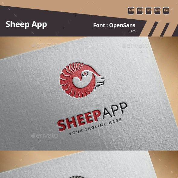 Sheep App Logo Template