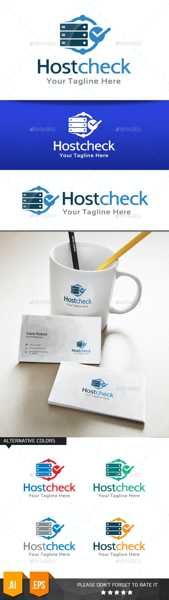 Host Check Logo Template - Objects Logo Templates