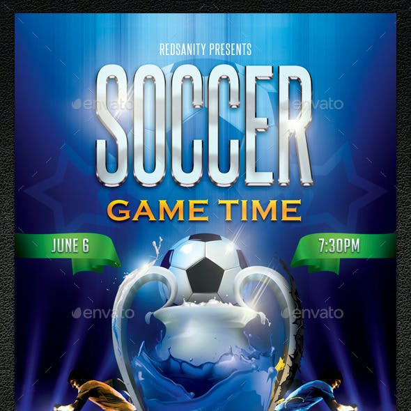 Soccer Game Time Flyer