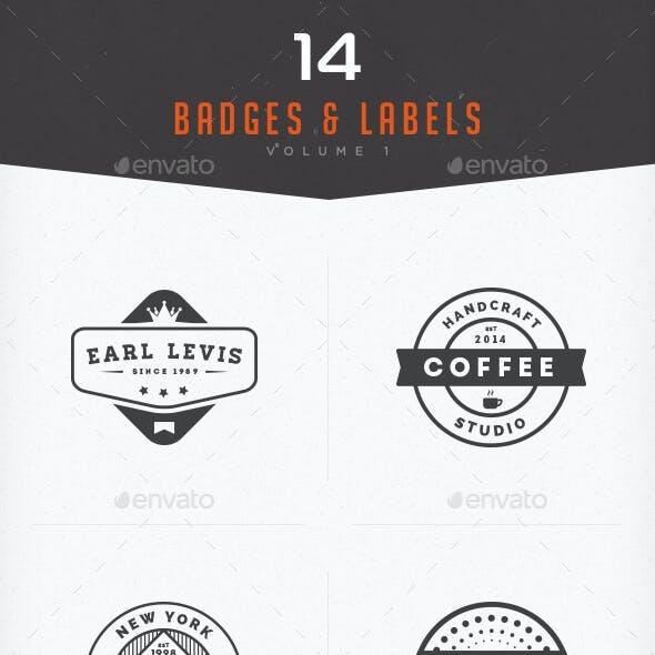 Badges & Labels Vol 1
