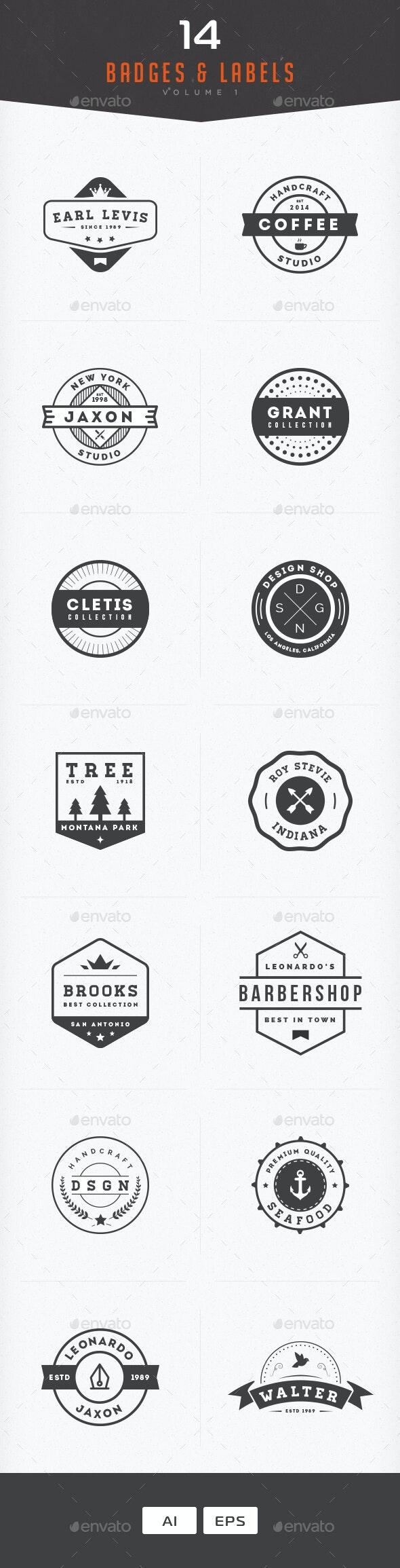 Badges & Labels Vol 1 - Badges & Stickers Web Elements