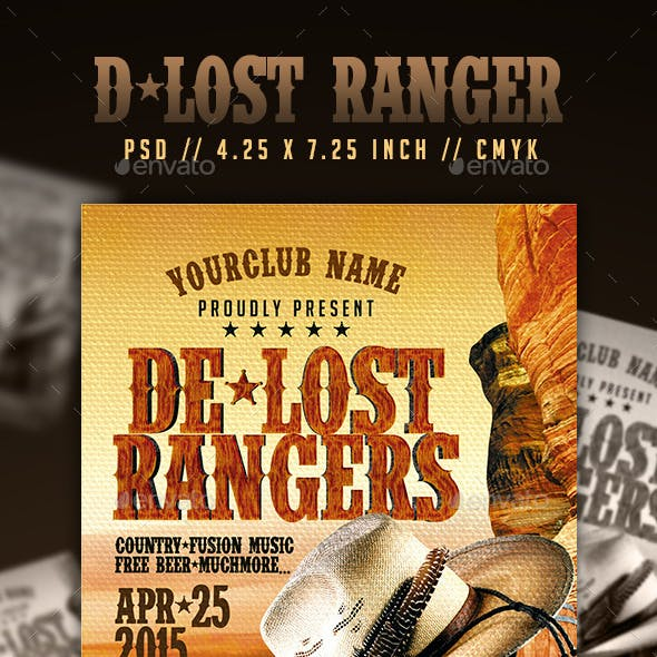 The Lost Rangers Flyer