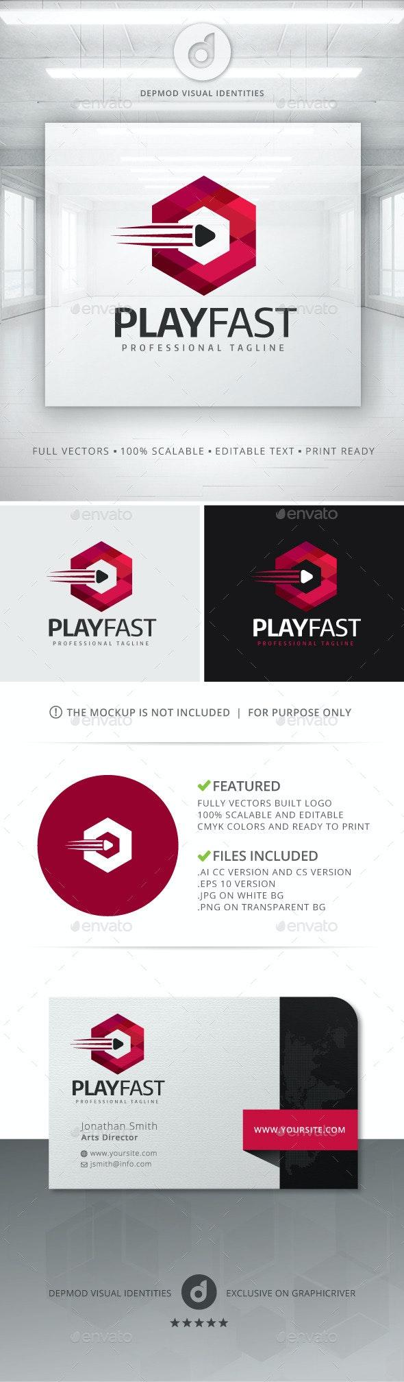 Play Fast Logo - Symbols Logo Templates