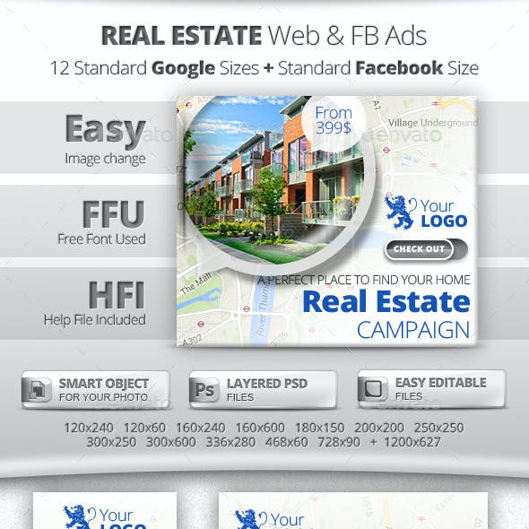 Real Estate Web & Facebook Banners Ads