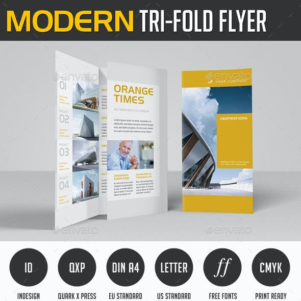 Modern Project Trifold Flyer