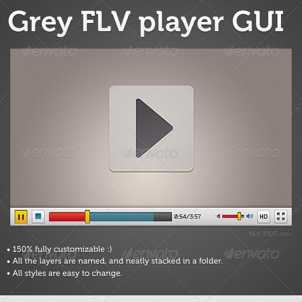Grey FLV player GUI
