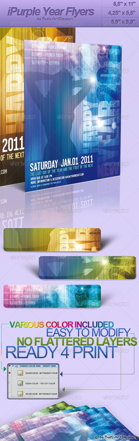 iPurple Year Flyers Series - Clubs & Parties Events