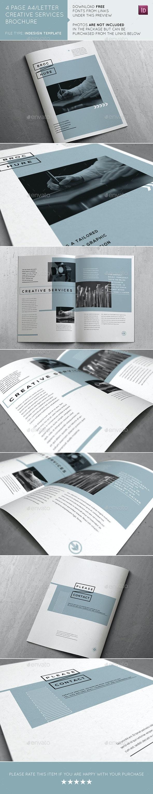 Creative Services Brochure - Brochures Print Templates