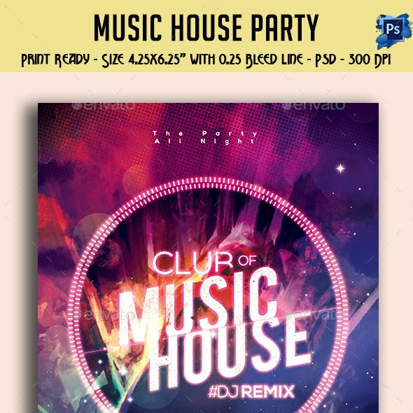 Music House Party Flyer