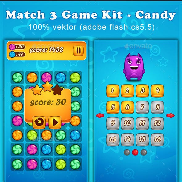 Match 3 Game Kit - Candy