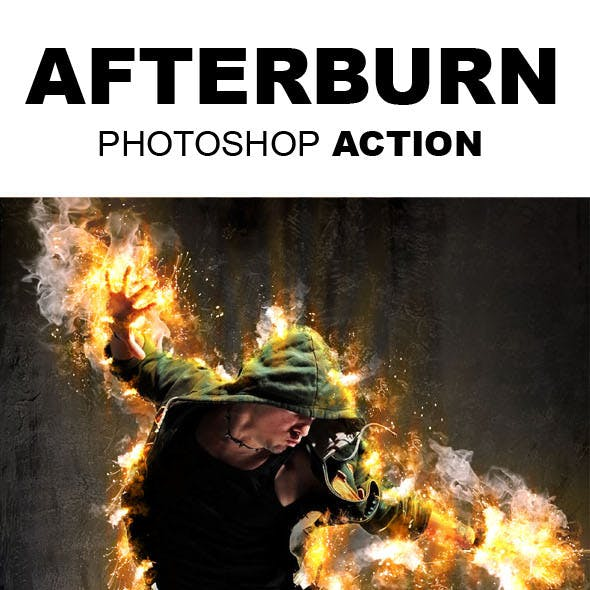AfterBurn Photoshop Action