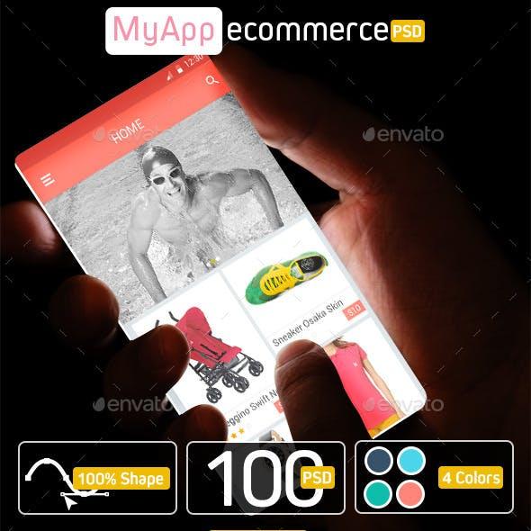 uiEcommerce » Mobile UI Kit