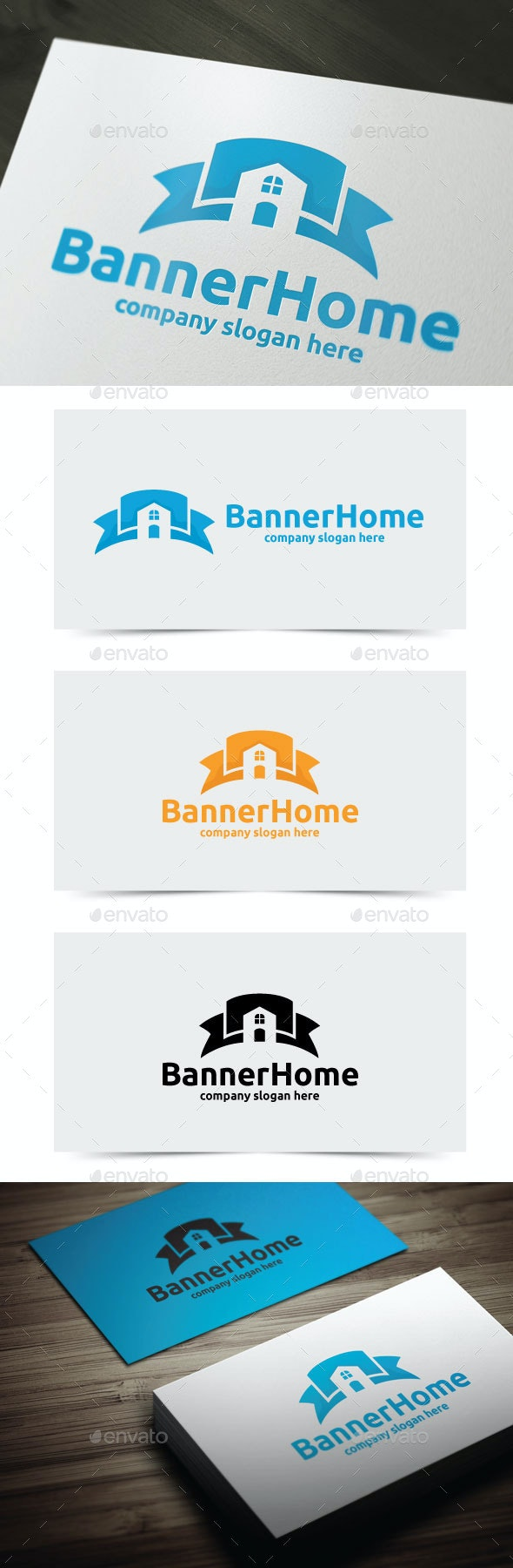 Banner Home - Objects Logo Templates