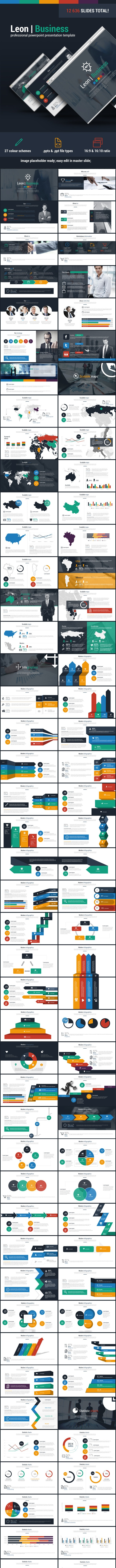 Leon Business Powerpoint Presentation Template - Business PowerPoint Templates
