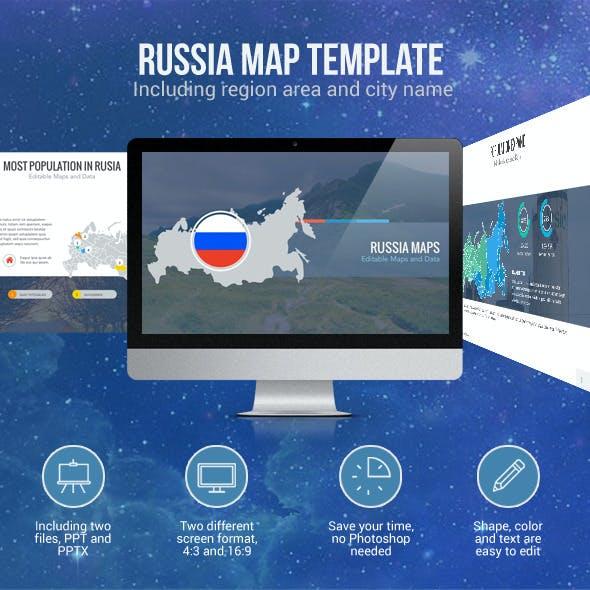 Russia Map - Editable Map Presentation