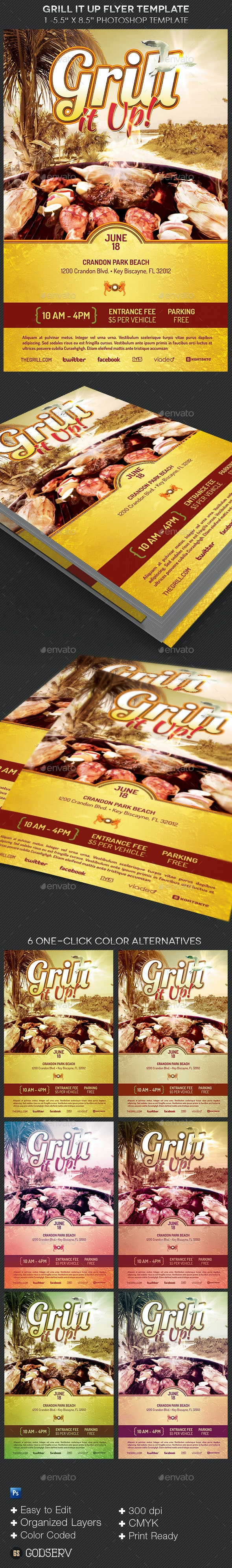 Grill Flyer Template - Events Flyers