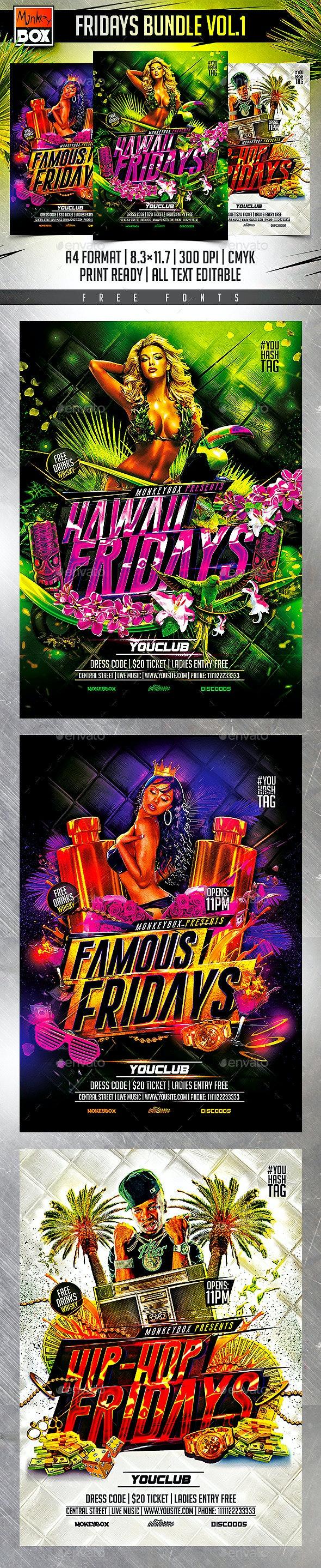 Fridays Bundle Vol.1 - Clubs & Parties Events
