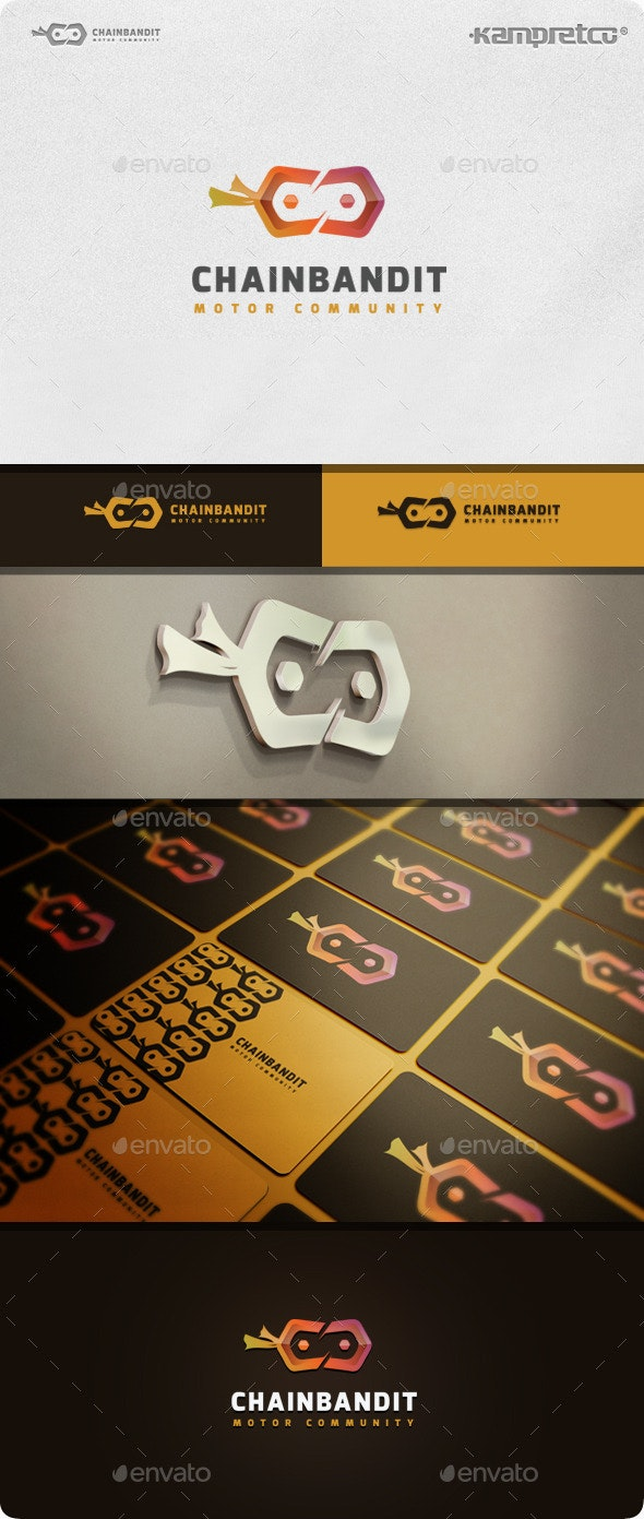 Chain Bandit Logo - 3d Abstract