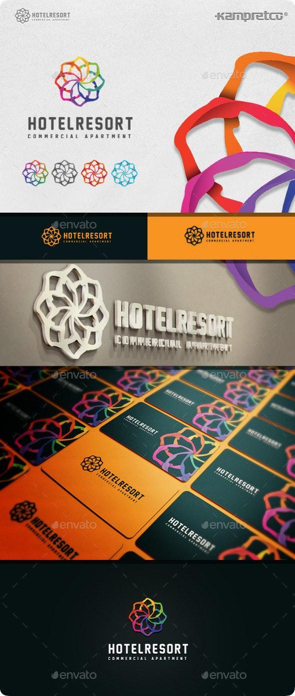 Resort Hotel Logo - Abstract Logo Templates