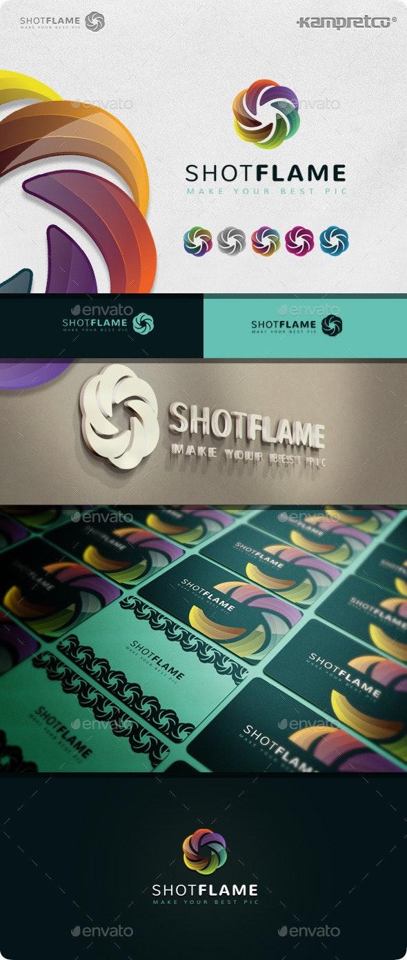 Shot Flame Logo - 3d Abstract