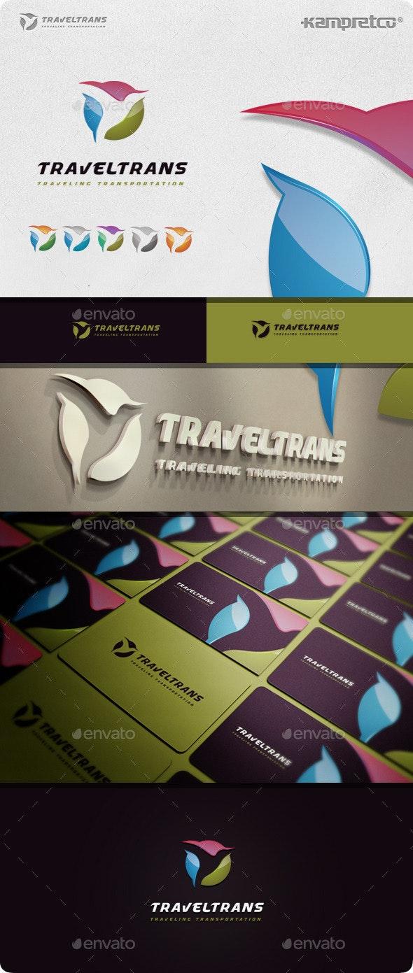 Transport Travel Logo - 3d Abstract
