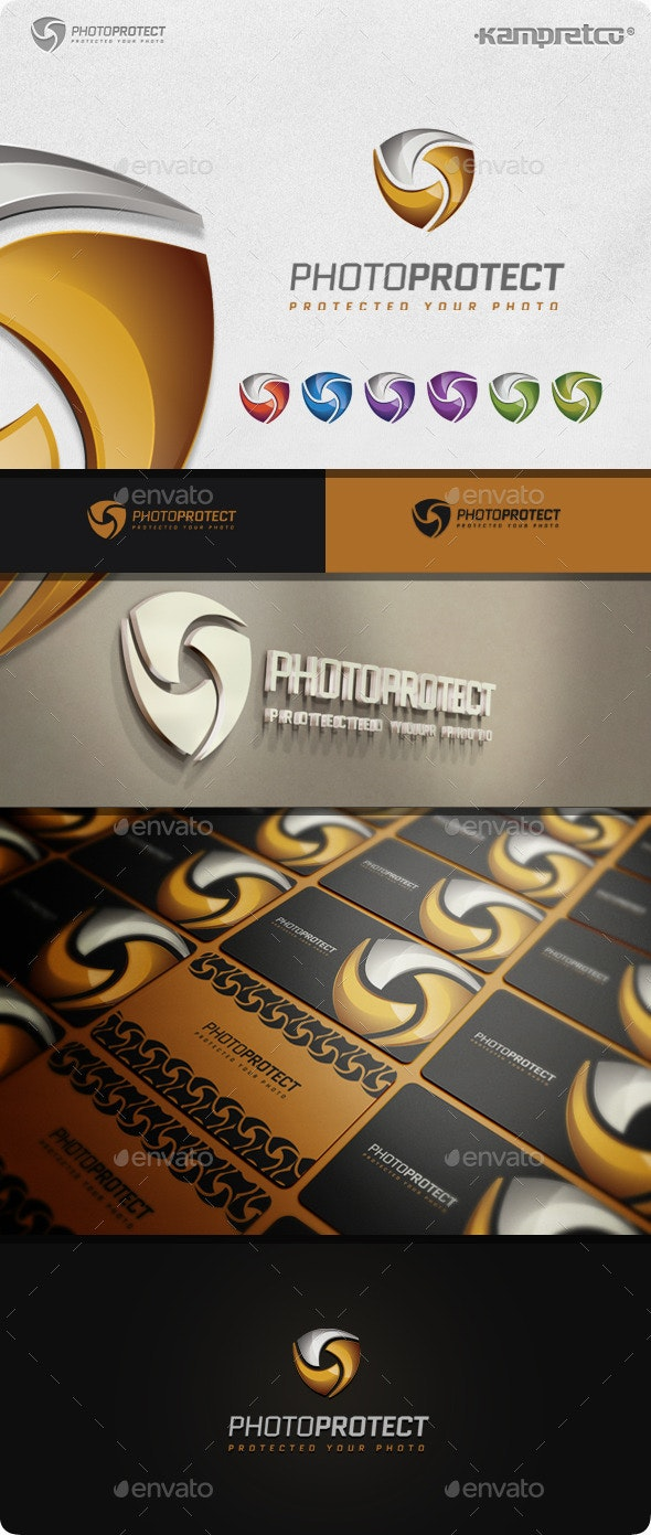 Photo Protect Logo - 3d Abstract