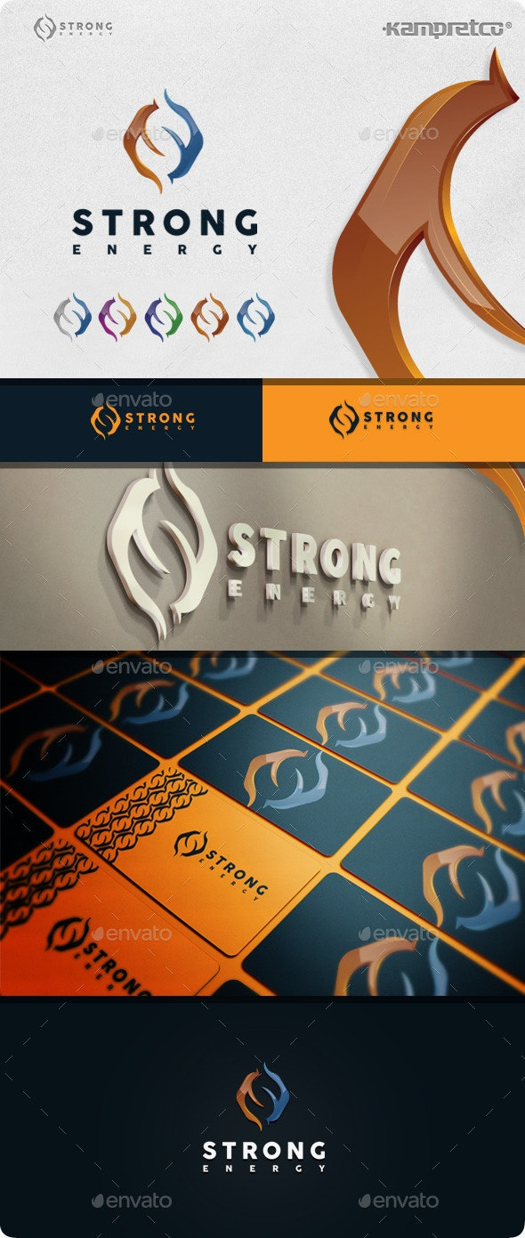 Strong Energy Logo - 3d Abstract