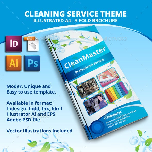 Eco - Cleaning Service A4 Tri fold Brochure