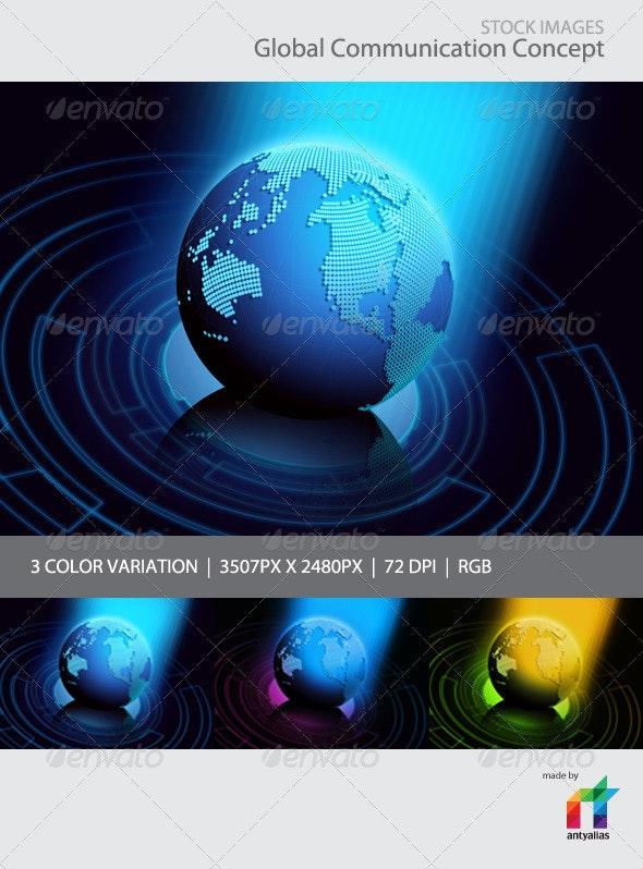 Global Communication Concept - Tech / Futuristic Backgrounds